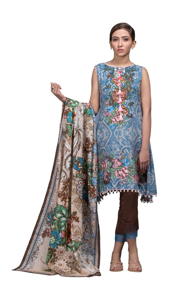 Alkaram Studio - Grey 2 Piece Printed Embroidered