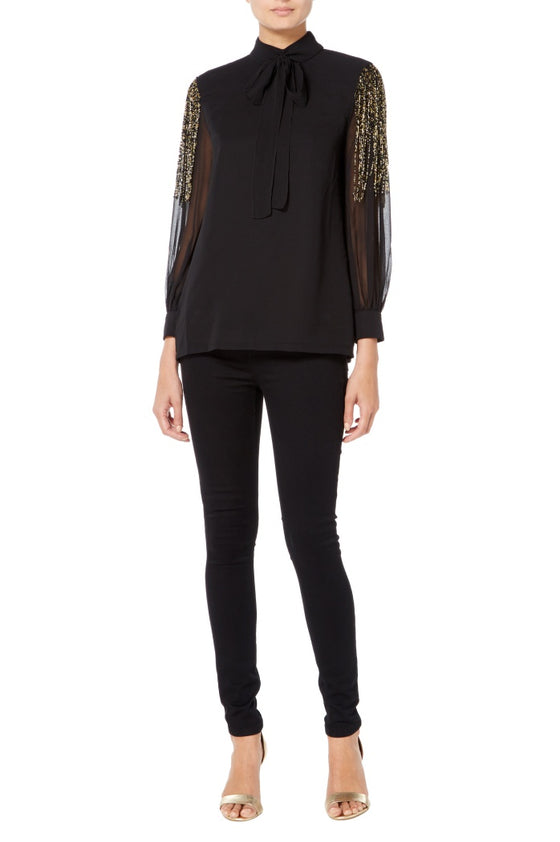 Raishma - Black Tassel Shirt