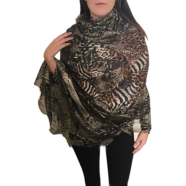 Amishi - Brown & Metallic Animal Print