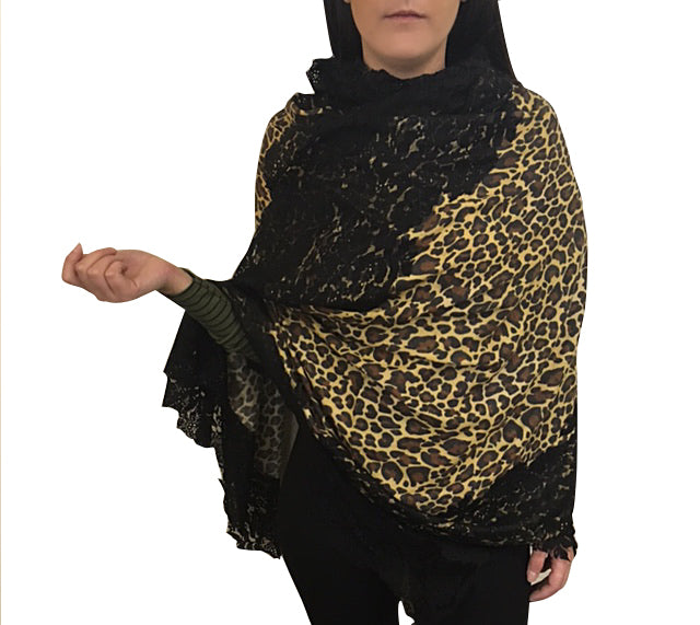 Amishi - Brown & Black Lace Animal Print