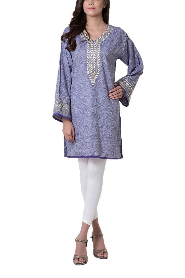 Bonanza Satrangi - Blue Shirt - Stitched