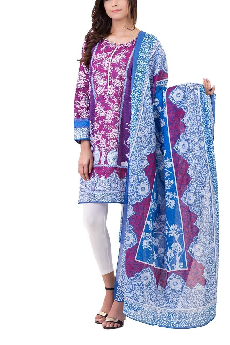 Bonanza Satrangi - Purple Dress - Stitched