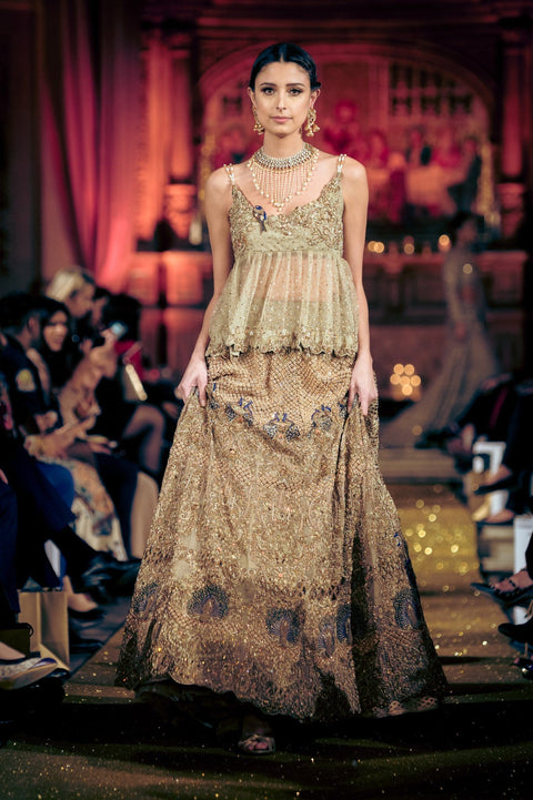 Rani Emaan - Net & Kundan Zari Lehnga With Cholie - The Sage