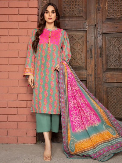 LimeLight - Zinc Printed Lawn Suit - 3 PC