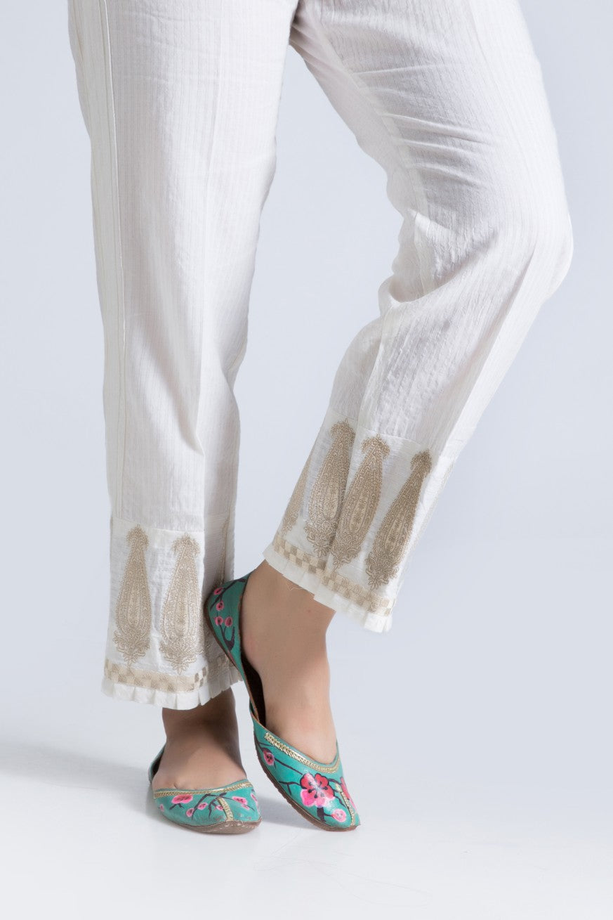 Bonanza Satrangi - White Unstitched Trouser