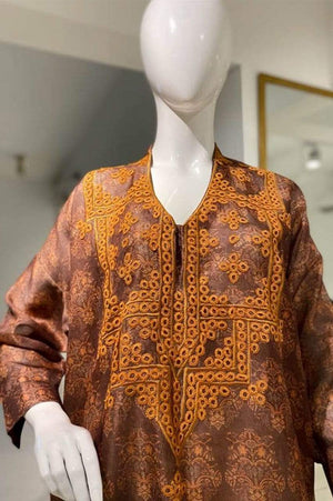 Sanam Chaudhri - Brown Rust Embroidered - SCL-10