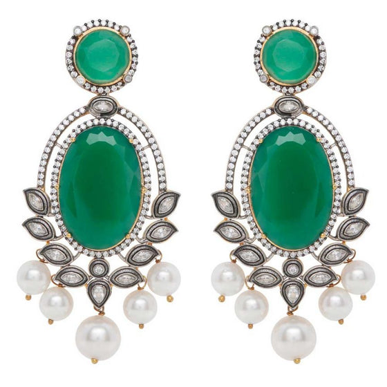 Red Dot Jewels - Leela in Green