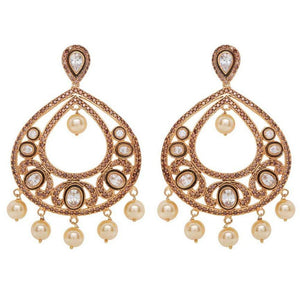 Red Dot Jewels - Bella Earrings - Gold Victorian