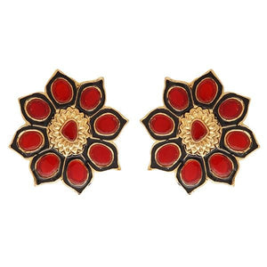 Red Dot Jewels - Red Sunflower