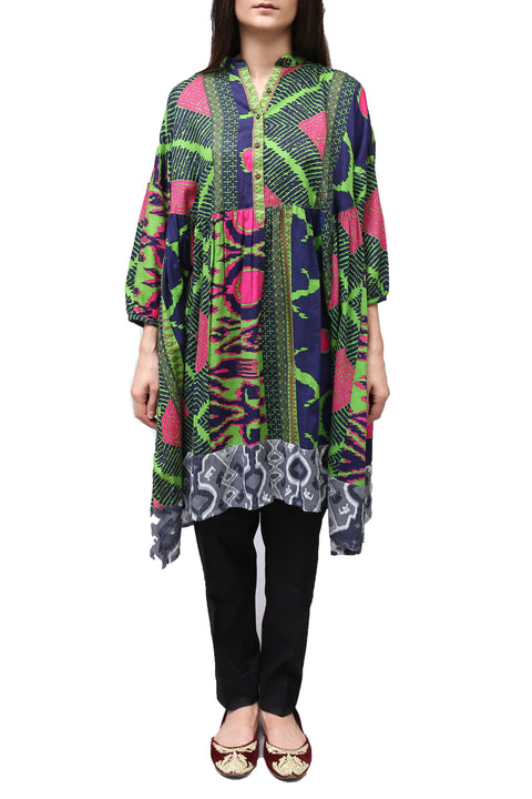 Generation - Green Art Trade Long Choga Dress