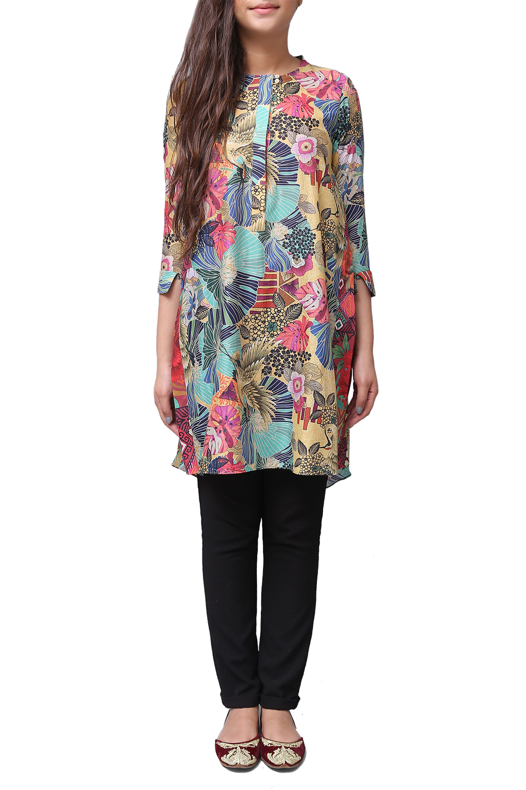 Generation - Peach Voile Wander Plant Tunic