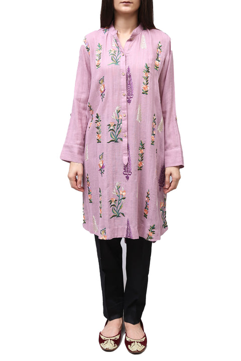 Generation - Purple Lilac Embroidered Kameez