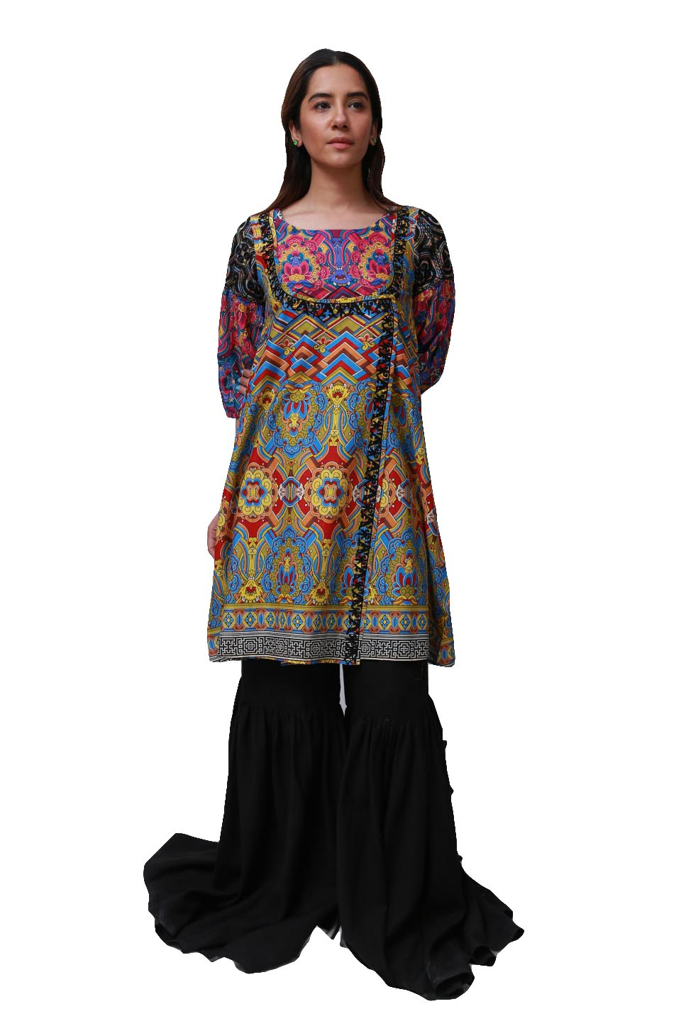 Generation - Multi Color Tibetan Plateau Overlapped Tunic