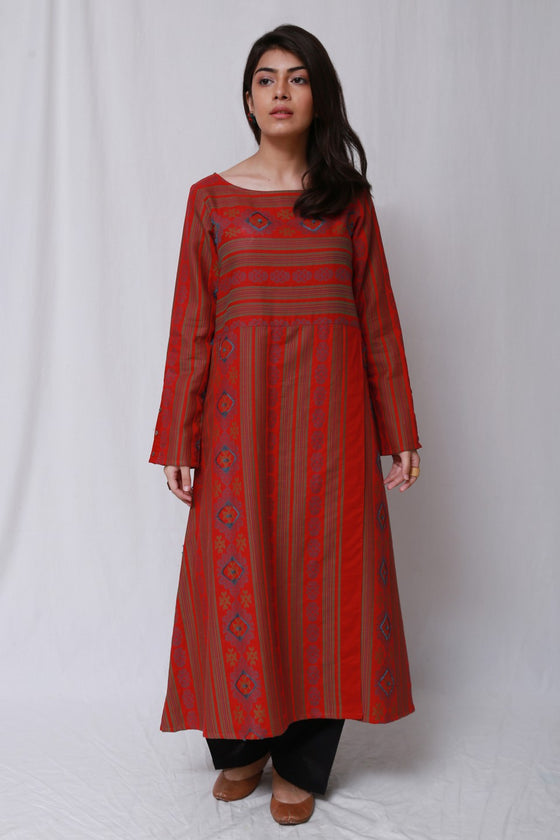 Generation - Red Wear Out Anarkali