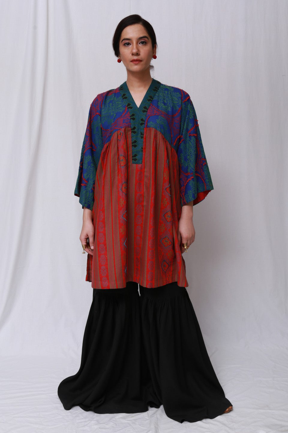 Generation - Red Wear Out Flared Tunic