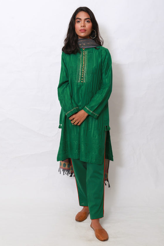 Generation - Green Banaras suit