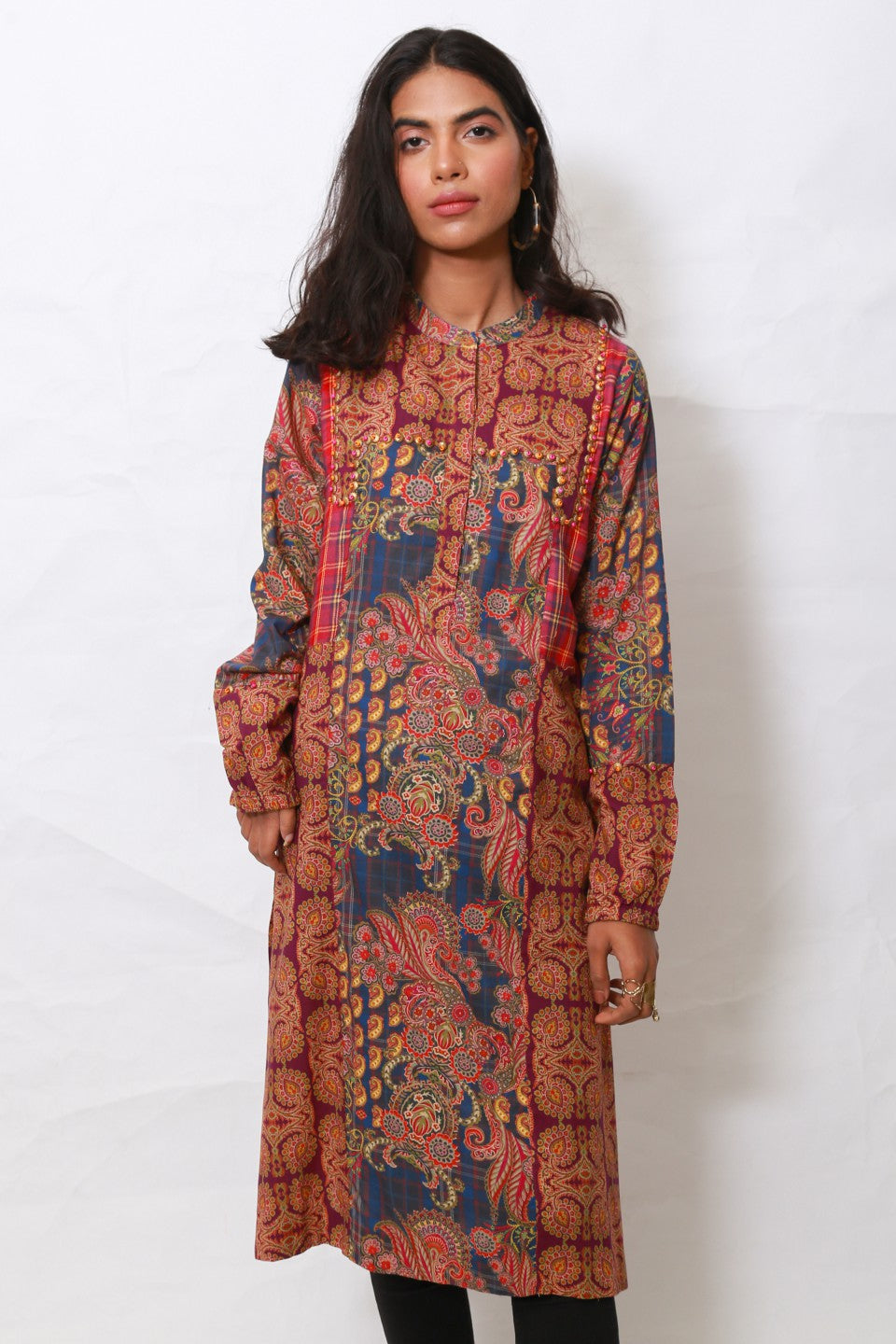 Generation - Multicolor Boho Paisley shirt
