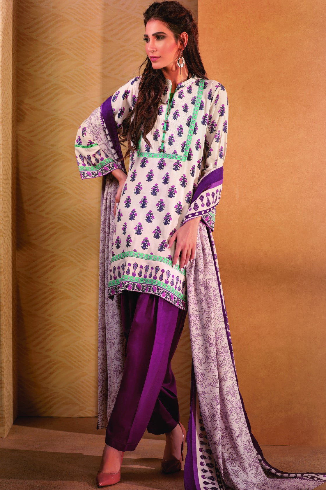 Bonanza Satrangi - PURPLE UPLIFTING A - 3 PC