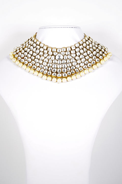 Red Dot Jewels - Kundan Necklace With Earrings & TikKa