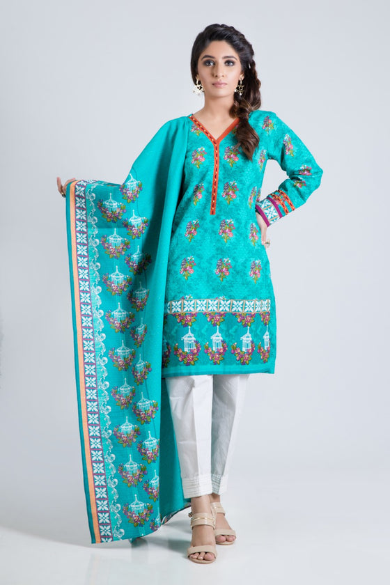 Bonanza Satrangi - GREEN PEACOCK STORY A - 2 PC