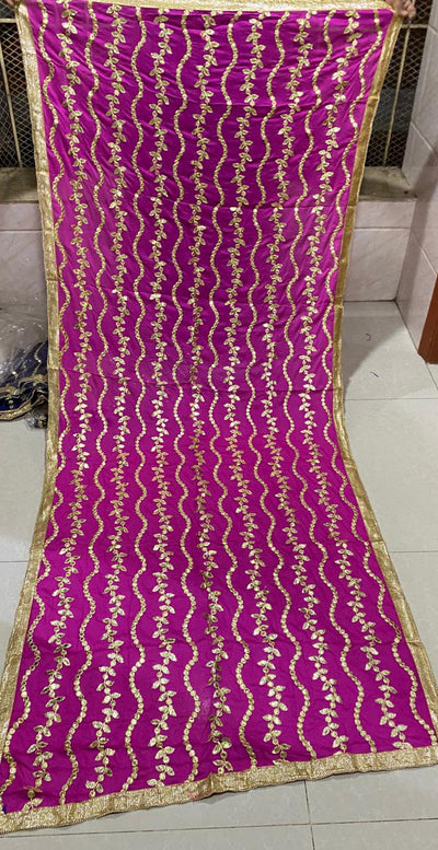 Design by Amina - Indian Press Gota Hand Worked Stitch Dupatta