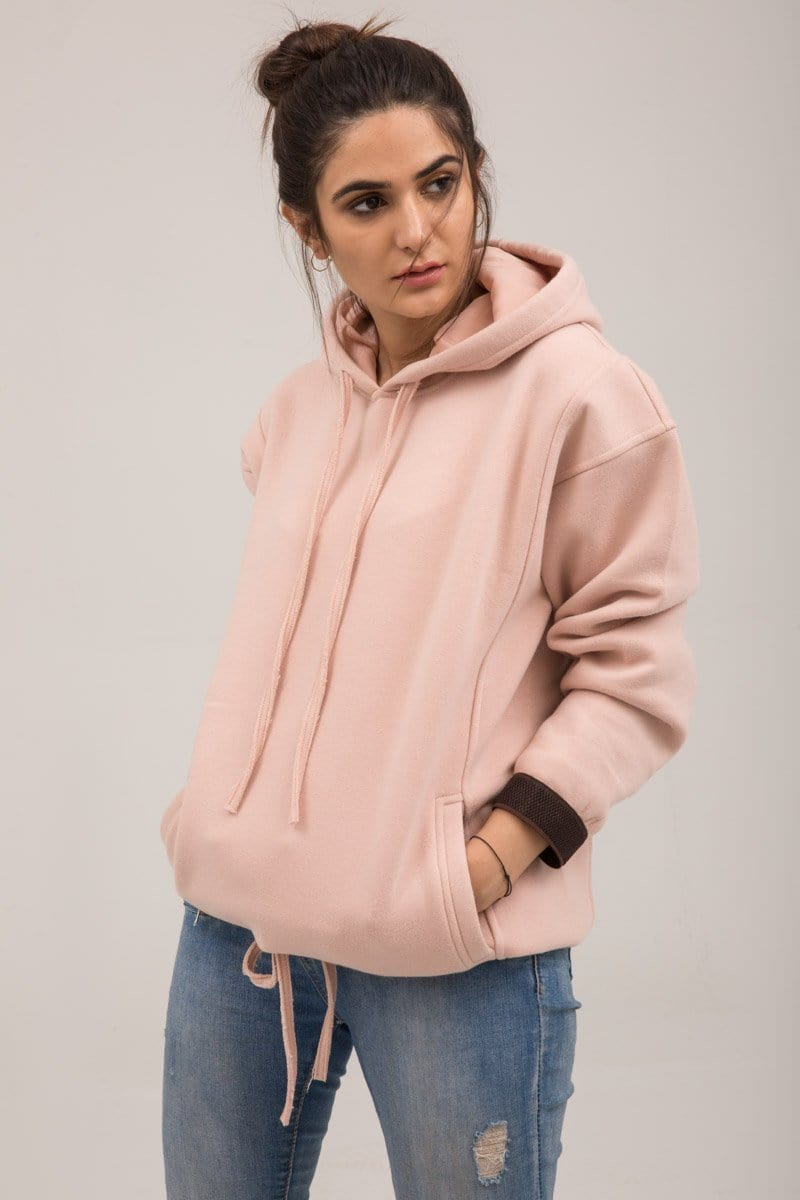 YES - Pink Fleece Winter Hoodie