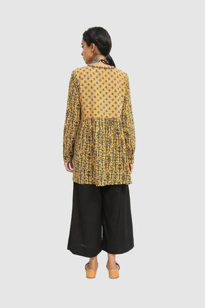 Generation - Yellow Front Open Checkerd Tunic - 1 Pc