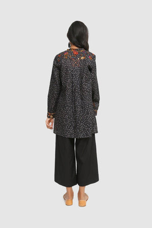 Generation - Black Bail Bootay Kurta Top - 1 Pc