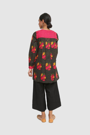 Generation - Black Kaantha Short Kurta - 1 PC