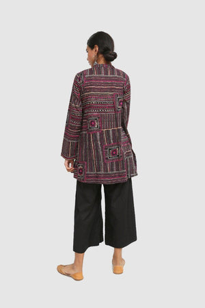 Generation - Black Australian Art Kurta - 1 PC