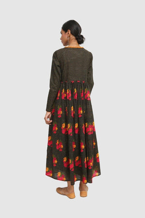 Generation - Black Kaantha Printed Dress - 1 PC