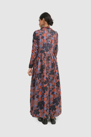 Generation - Blue Rang Printed Dress - 1 PC