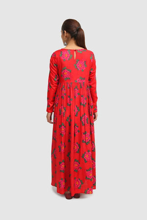 Generation - Red Suri Floor Length Dress - 1 PC