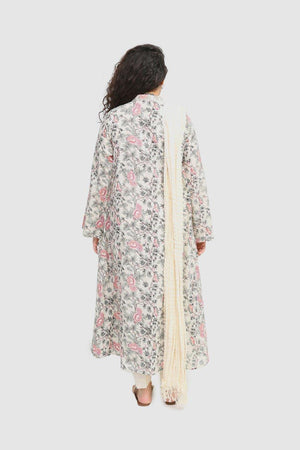 Generation - Off White Bahaary Embroidered Suit - 3 Pc