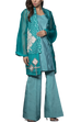 Mahgul - ARAH Embroidered Organza Jacket With Pants