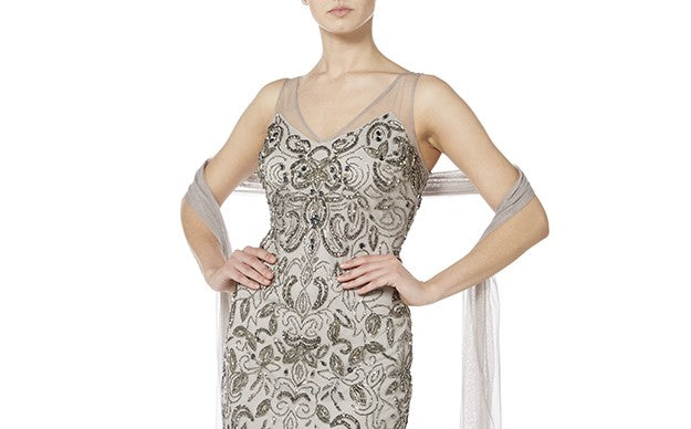 Raishma - Grey With Silver Filigree Embroidery Suit