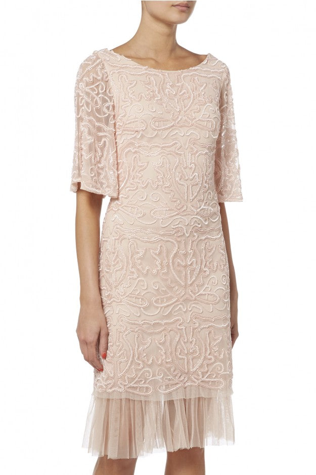Raishma - Pink Bell Sleeve Cocktail Dress