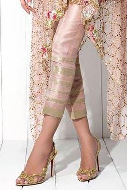 Sania Maskatiya - Raw Silk Pants With Tissue Detailing