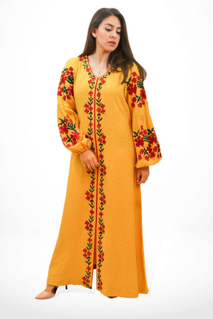 Ethnic by Farhat Khan - Mustard Yellow Cotton Silk