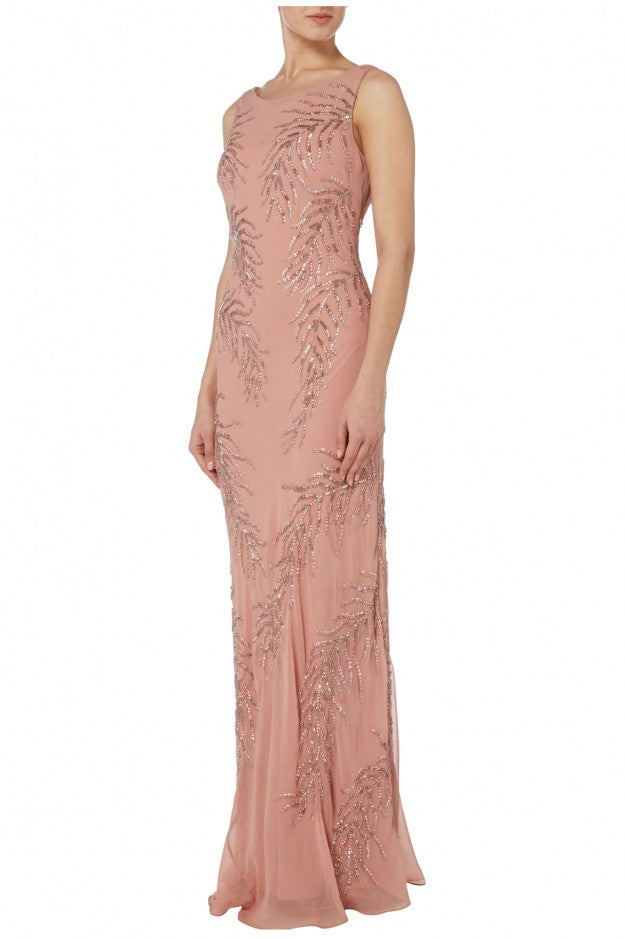 Raishma - Rose Gown With Draped Back