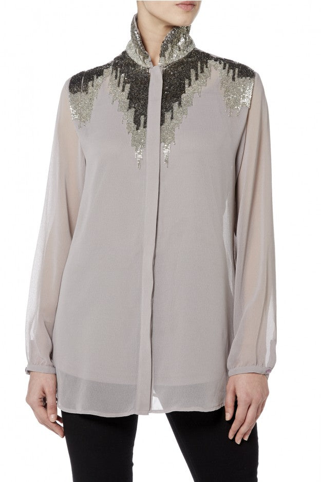 Raishma - Grey Detailed Shirt