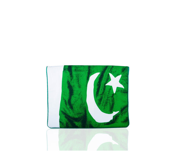 Mahin Hussain - Green Printed Flag Clutch - Celebrating the spirit of PAKISTAN