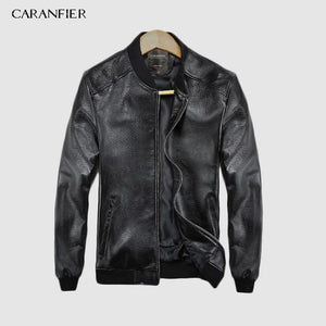 CARANFEIR 2019  Brand Vintage Genuine Leather Jacket