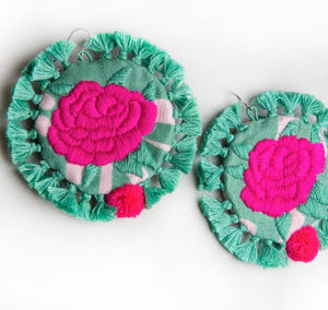 Mahin Hussain - Rose Earrings From Umerkot