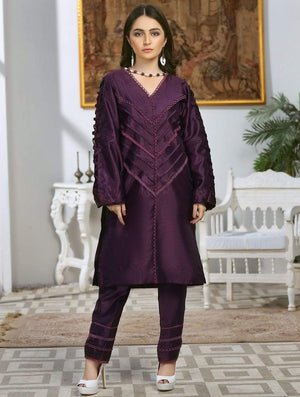 Khas Stores - Luxury Embroidered Tefta Pret Kurti KLS-60