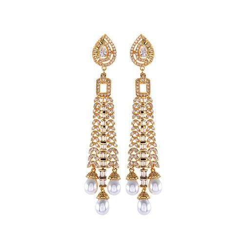 Amishi - Gold Plated Chandelier Drop Earrings