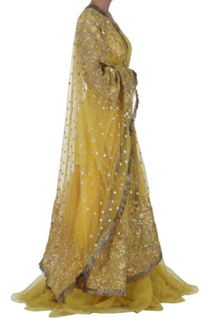 Zuria Dor - Yellow Embroidered Dress