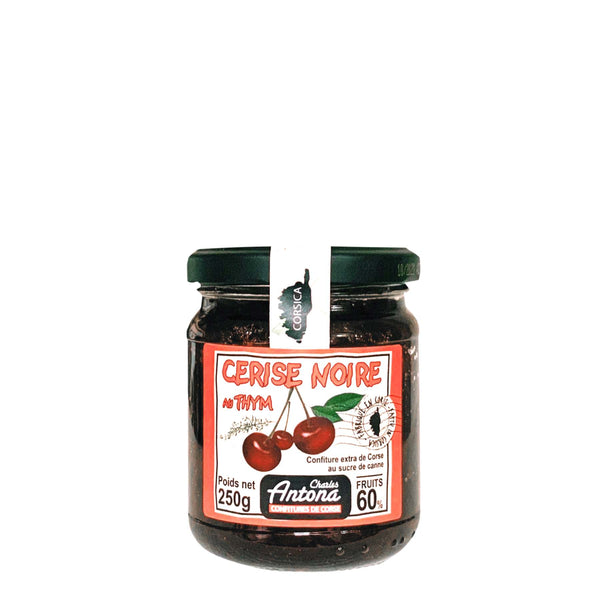 Corsican black cherry and thyme jam - 250g