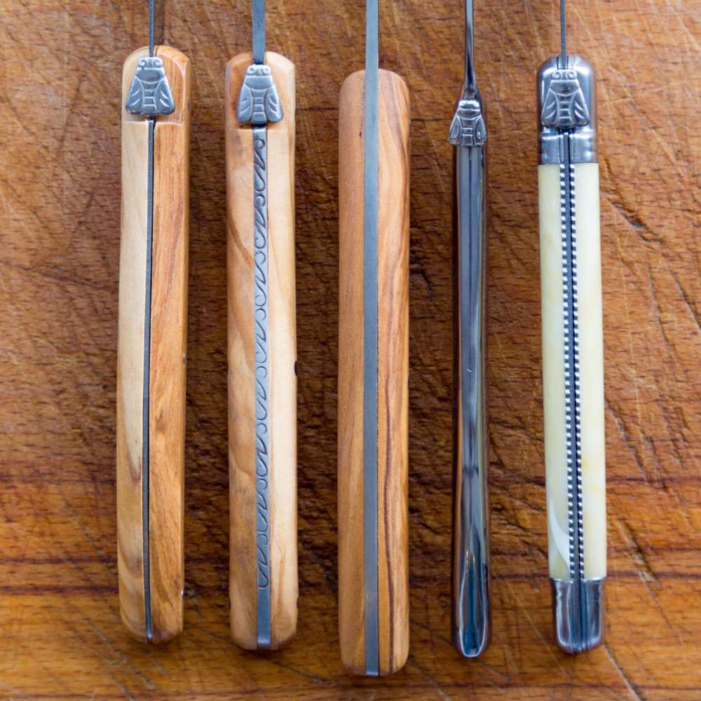 Selection of different Laguiole knives