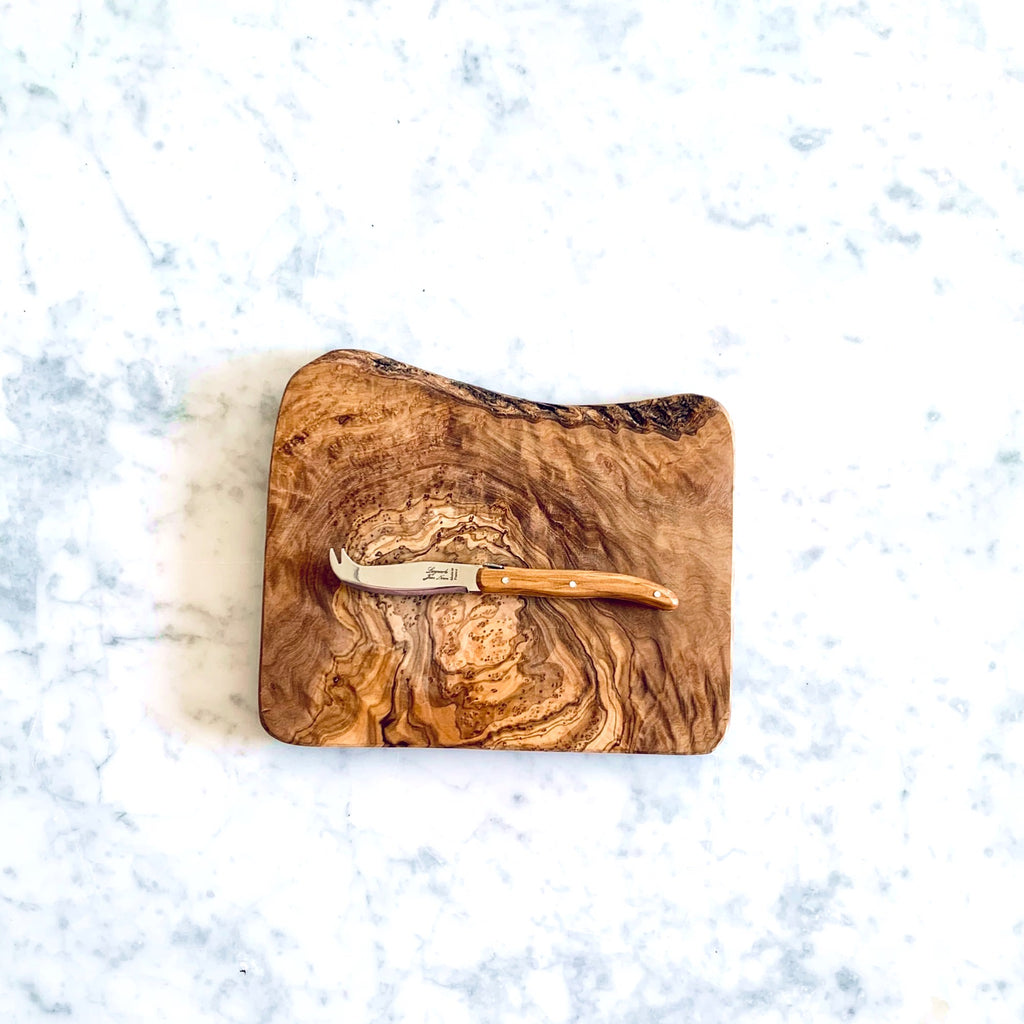 Olive wood cheese board - small